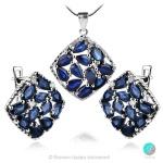 Adria Blue Sapphire - Сребърна висулка с естествен Сапфир 2.95 ct P019969S-Естествени камъни