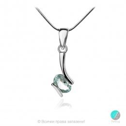 Gentle Aquamarine - Сребърна висулка с естествен Аквамарин 0.64 ct P013661Aq-Естествени камъни