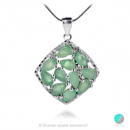 Adria Emerald - Сребърна висулка с естествен Изумруд 2.13 ct P019969E-Естествени камъни