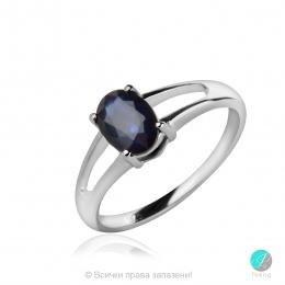 Sapphire Angel - Сребърен пръстен с естествен син Сапфир 1 ct R017066S-Естествени камъни