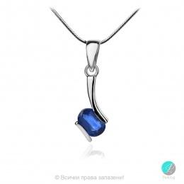 Gentle Blue Kyanite - Сребърна висулка с естествен Син Кианит 1.23 ct P013661Kya-Естествени камъни