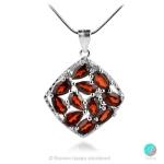 Adria Garnet - Сребърна висулка с естествен Гранат 2.75 ct P019969G-Естествени камъни