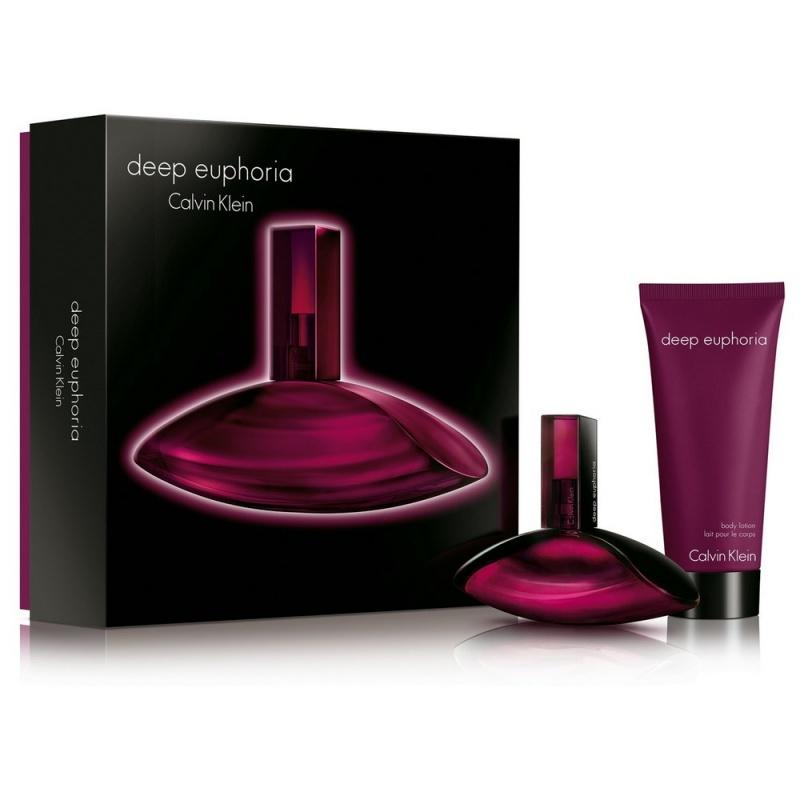 Calvin Klein Deep Euphoria - Комплект парфюмна вода + Лосион за тяло за жени EDP + BL 50 мл + 100 мл.-Парфюми