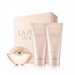 LA PERLA IN ROSA - Комплект за жени - Тоалетна вода EDT 30 мл + Лосион за тяло BL 125 мл + Душ гел SG 125 мл-Парфюми