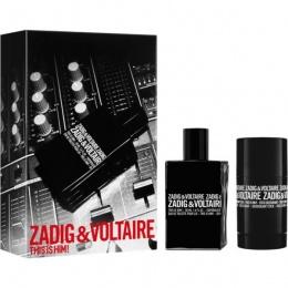 Комплект за мъже Zadig&Voltaire This Is Him! - Тоалетна вода EDT 50 мл + Део-стик DEO 75 гр-Парфюми