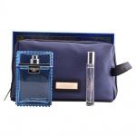 Комплект за мъже Versace Man Eau Fraiche - Тоалетна вода EDT 100 мл + Mini EDT 10 мл + несесер-Парфюми