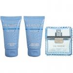Комплект за мъже Versace Man Eau Fraiche - Тоалетна вода EDT 50 мл + Афтършейв балсам ASB 50 мл + Душ гел SG 50 мл-Парфюми