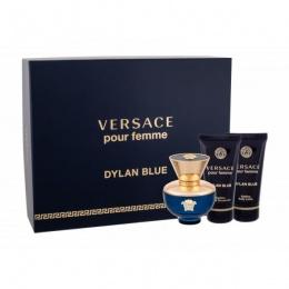 Комплект за жени Versace Dylan Blue - Парфюмна вода EDP 50 мл + Лосион за тяло BL 50 мл + Душ гел SG 50 мл-Парфюми