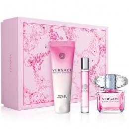 Комплект за жени Versace Bright Crystal - Тоалетна вода EDT 90 мл + 10 мл + Лосион за тяло BL 150 мл-Парфюми