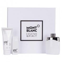 Комплект за мъже Mont Blanc Legend Spirit - Тоалетна вода EDT 100 мл + 15 мл + Афтършейв балсам ASB 100 мл-Парфюми