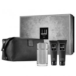 Комплект за мъже Dunhill Icon - Парфюмна вода EDР 100 мл + Афтършейв балсам ASB 90 мл + Душ гел SG 90 мл + несесер-Парфюми