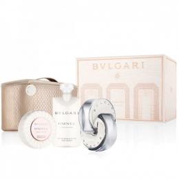 Комплект за жени BVLGARI OMNIA CRYSTALLINE - Тоалетна вода EDT 65 мл + Лосион за тяло BL 75 мл + Сапун 75 гр + несесер-Парфюми