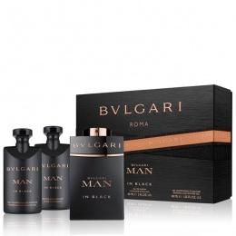 Комплект за мъже Bvlgari MAN In Black - Парфюмна вода EDP 60 мл + Афтършейв балсам ASB 40 мл + Душ гел SG 40 мл-Парфюми