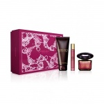 Комплект за жени Versace Crystal Noir - Тоалетна вода ЕДТ 90 мл + Душ гел SG 150 мл + мини ЕДТ 10 мл-Парфюми