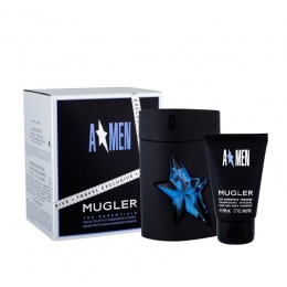 Комплект за мъже Thierry Mugler A*Men  - Тоалетна вода EDT 100 мл /Rubber refillable bottle/ + Шампоан 50 мл-Парфюми
