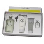 Унисекс комплект Calvin Klein CK One - Тоалетна вода EDT 200 мл + Mini EDT 15 мл + Лосион за тяло BL 200 мл + Душ гел SG 100 мл-Парфюми