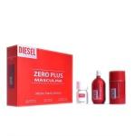 Комплект за мъже DIESEL Zero Plus Masculine - Тоалетна вода EDT 75 мл + Део-стик DEO 75 мл + Plus Plus Тоалетна вода EDT 30 мл-Парфюми