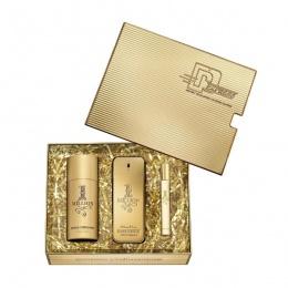 Комплект за мъже Paco Rabanne 1 Million - Тоалетна вода EDT 100 мл + Mini EDT 10 мл + Дезодорант DEO 150 мл-Парфюми