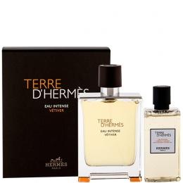 Комплект за мъже Hermes Terre d`Hermes Eau Intense Vetiver - Парфюмна вода EDP 100 мл + Душ гел SG 80 мл