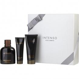 Комплект за мъже Dolce&Gabbana Pour Homme Intenso - Парфюмна вода EDP 125 мл + Афтършейв балсам ASB 100 мл + Душ гел SG 50 мл-Парфюми
