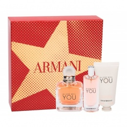 Комплект за жени Armani In Love With You - Парфюмна вода EDP 50 мл + 15 мл + Крем за ръце 50 мл-Парфюми