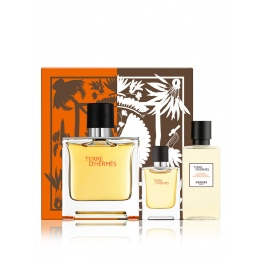 Комплект за мъже Hermеs Terre d`Hermes - Парфюм 75 мл + 5 мл + Душ гел SG 40 мл-Парфюми