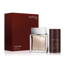 Комплект за мъже Calvin Klein Euphoria For Him - Тоалетна вода EDT 100 мл + Део-стик DEO 75 мл-Парфюми