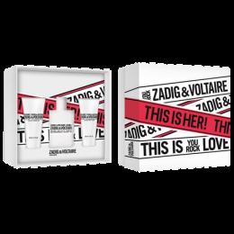 Комплект за жени Zadig&Voltaire This Is Her! - Парфюмна вода EDP 50 мл + Лосион за тяло BL 50 мл + Душ гел SG 50 мл-Парфюми