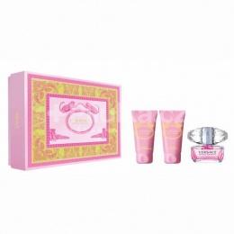 Комплект за жени Versace Bright Crystal - Тоалетна вода EDT 50 мл + Лосион за тяло BL 50 мл + Душ гел SG 50 мл-Парфюми
