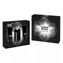 Комплект за мъже Mont Blanc Emblem - Тоалетна вода EDT 100 мл + Афтършейв балсам ASB 100 мл + Душ гел SG 100 мл-Парфюми