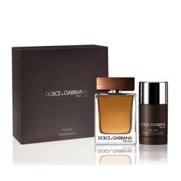 Комплект за мъже Dolce&Gabbana The One - Тоалетна вода EDT 100 мл + Део-стик DEO 75 мл-Парфюми