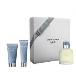 Комплект за мъже Dolce&Gabbana Light Blue - Тоалетна вода EDT 125 мл + Афтършейв балсам ASB 75 мл + Душ гел SG 50 мл-Парфюми