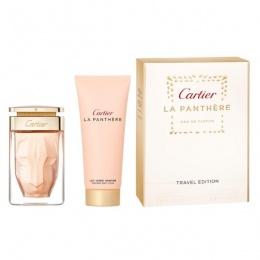 Комплект за жени Cartier La Panthere - Парфюмна вода EDP 75 мл + Лосион за тяло BL 100 мл-Парфюми