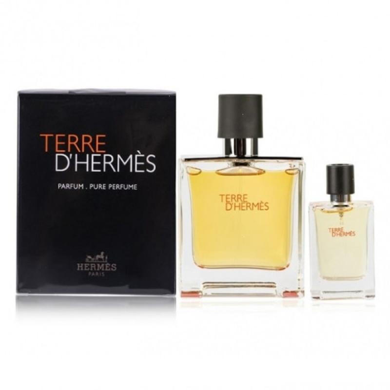 Комплект за мъже Hermes Terre d`Hermes - Парфюмна вода EDP 75 мл + 12.5 мл-Парфюми