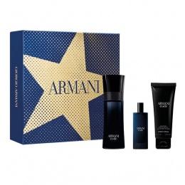 Комплект за мъже Giorgio Armani Code - Тоалетна вода за мъже EDT 75 мл + 15 мл + Душ гел SG 75 мл-Парфюми