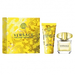 Комплект за жени Versace Yellow Diamond - Тоалетна вода EDT 90 мл + Лосион за тяло BL 100 мл-Парфюми