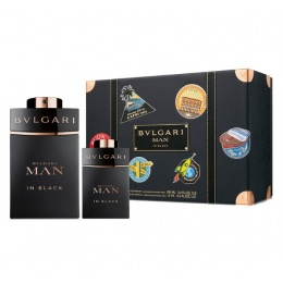 Комплект за мъже Bvlgari MAN In Black - Парфюмна вода EDP 100 мл + 15 мл-Парфюми