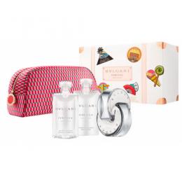 Комплект за жени BVLGARI OMNIA CRYSTALLINE - Тоалетна вода EDT 65 мл + Лосион за тяло BL 75 мл + Душ гел 75 мл + Несесер-Парфюми