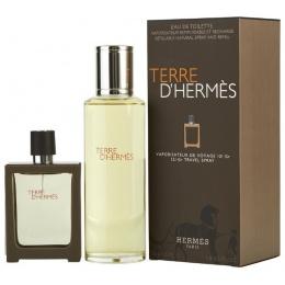 Комплект за мъже Hermеs Terre d`Hermes - Парфюм 30 мл Refillable + 125 мл Пълнител-Парфюми