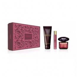 Комплект за жени Versace Crystal Noir - Парфюмна вода EDP 90 мл + 10 мл + Лосион за тяло BL 150 мл-Парфюми