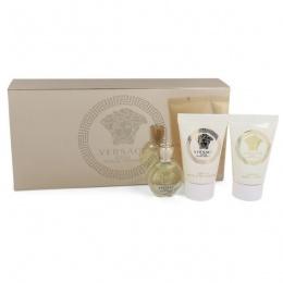 Мини комплект за жени Versace Eros - Парфюмна вода EDP 5 мл + Лосионт за тяло BL 25 мл + Душ гел SG 25 мл-Парфюми