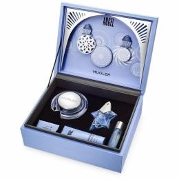 Комплект за жени Thierry Mugler Angel Refillable - Парфюмна вода EDP 50 мл + Крем за тяло BC 200 мл + Душ гел SG 100 мл + Спрей за коса 30 мл-Парфюми