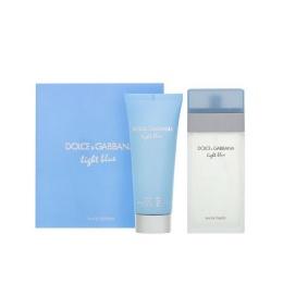 Комплект за жени Dolce&Gabbana Light Blue - Тоалетна вода EDT 100 мл + Крем за тяло BC 75 мл-Парфюми