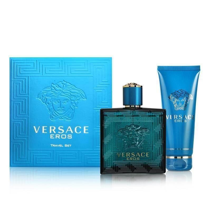 Комплект за мъже Versace Eros - Тоалетна вода EDT 100 мл + Душ гел SG 100 мл-Парфюми