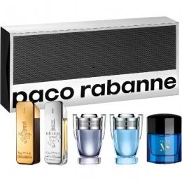 Комплект за мъже Paco Rabanne Миниатюри - One Million 5 мл, One Million Lucky 5 мл, Invictus 5 мл, Invictus Legend 5 мл, Pure XS 6 мл-Парфюми