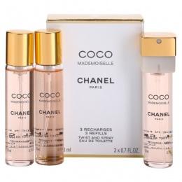 Chanel Coco Mademoiselle - Тоалетна вода за жени EDT 3x20 мл-Парфюми