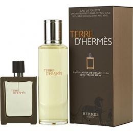 Комплект за мъже Hermеs Terre d`Hermes - Тоалетна вода EDT 30 мл Refillable + 125 мл Пълнител-Парфюми