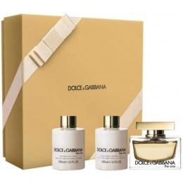 Комплект за жени Dolce&Gabbana The One - Парфюмна вода EDP 75 мл + Лосион за тяло BL 100 мл + Душ гел SG 100 мл-Парфюми