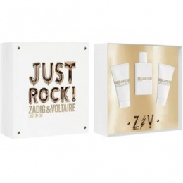 Комплект за жени Zadig&Voltaire Just Rock! - Парфюмна вода EDP 50 мл + Лосион за тяло BL 50 мл + Душ гел SG 50 мл-Парфюми
