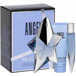 Комплект за жени Thierry Mugler ANGEL Reffilable - Парфюмна вода EDP 50 мл + Mini EDP 10 мл + Лосион за тяло BL 50 мл-Парфюми